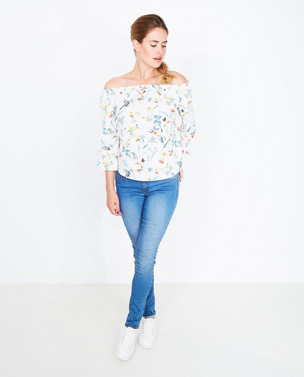 Off shoulder blouse - met bloemenprint - JBC